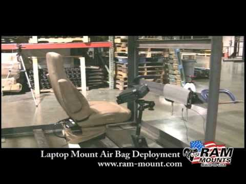 Laptop / Notebook Vehicle Mount Air Bag Deployment Test